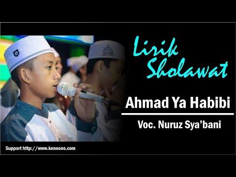 Lirik Sholawat Ahmad ya habibi - Nuruz sya'ban