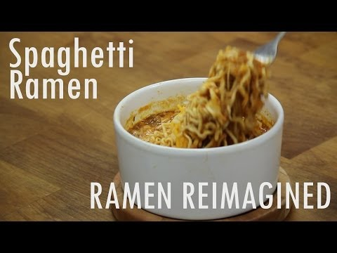 Spaghetti Ramen in the Microwave