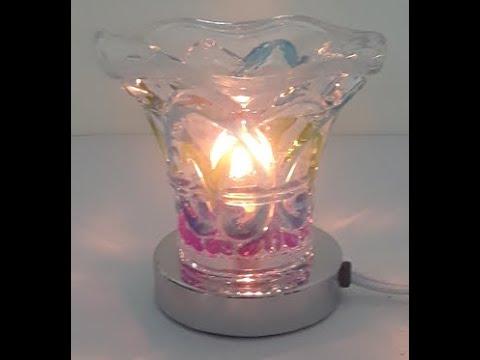 Decorative Multi-Color Glass Electric Oil Warmer Lamp