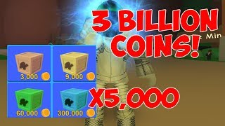 SPENDING 3 BILLION COINS ON 5000 EPIC HAT CRATES! Roblox Mining Simulator With DefildPlays