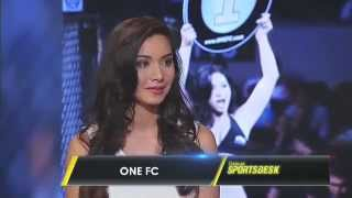 Sports Desk exclusive with ONE FC ring girl Christine Hallauer