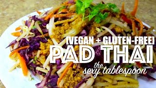 [EASY + VEGAN] Pad Thai RECIPE at The Sexy Tablespoon