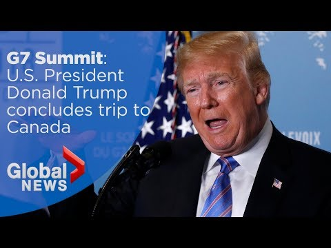 Donald Trump G7 summit full news conference ahead of meeting with North Korea