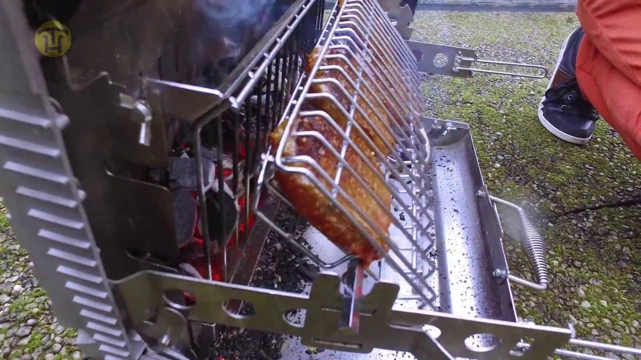 Review roasterette verticale bbq youtube - Fabriquer un barbecue en fer ...