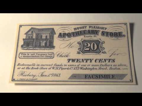1863 Mount Pleasant Apothecary Store Note