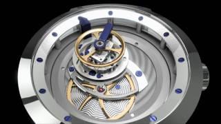Animation de la montre - blu Majesty MT3 - simulée dans le logiciel...