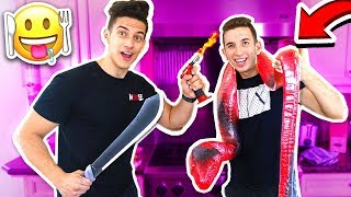 WORLD'S LARGEST GUMMY SNAKE SLIME CANDY CHALLENGE / Funny Pranks!