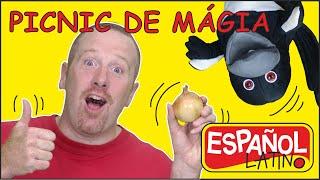 El Picnic Mágico con Steve and Maggie Español Latino | Aprende los Alimentos