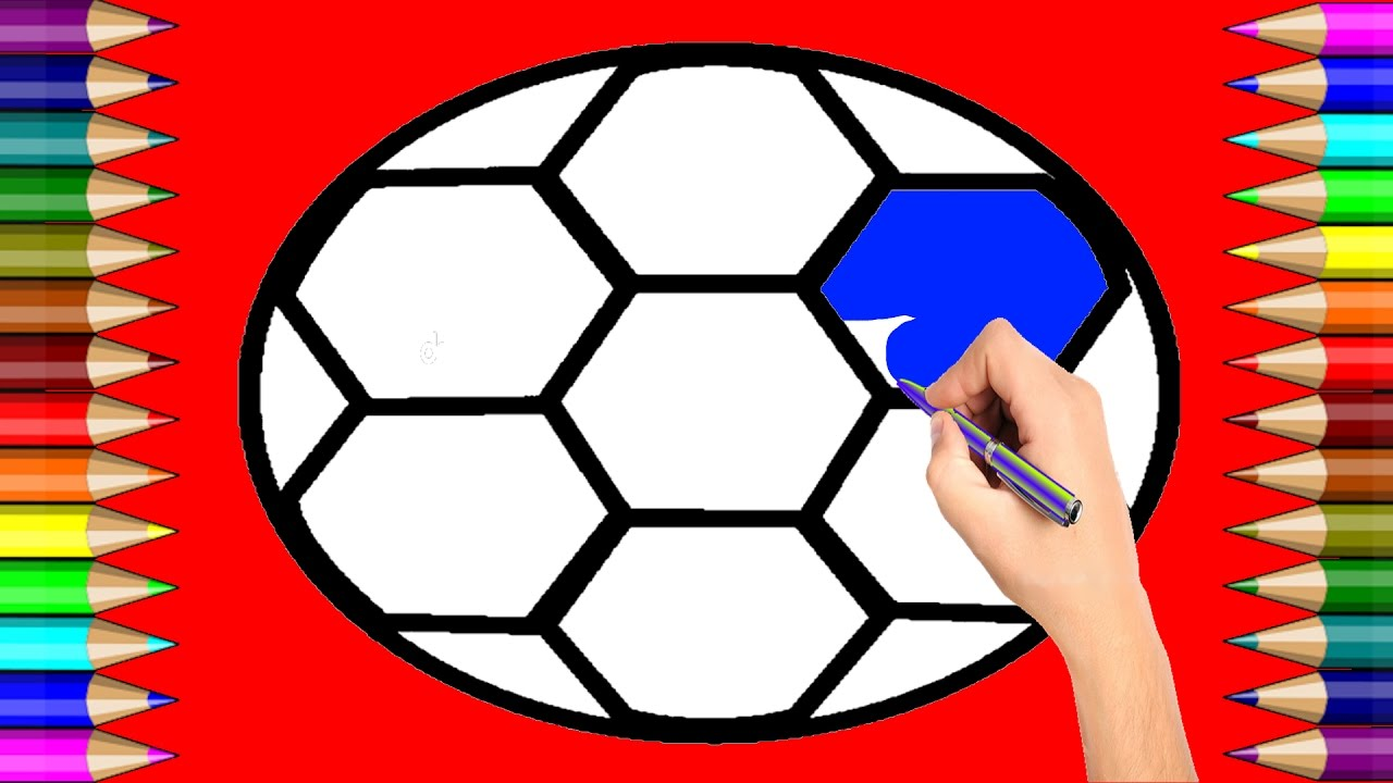 Ball Coloring Page   How to Draw Ball   Learning Colouring Videos ...