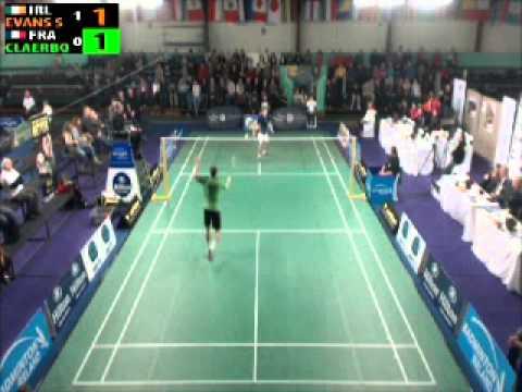 Irish Open 2012 Mens Singles Semi Scott Evans (IRE) v Lucas Claerbout (FRA)