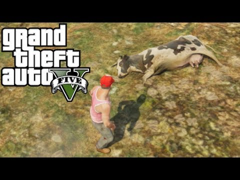 GTA V - COW TIPPIN WITH TREVOR!