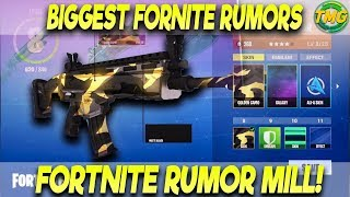 FORTNITE RUMORS! NEW SKINS CUSTOMIZATION! MORE DETAILED POST MATCH STATICS! FORTNITE RUMOR MILL!