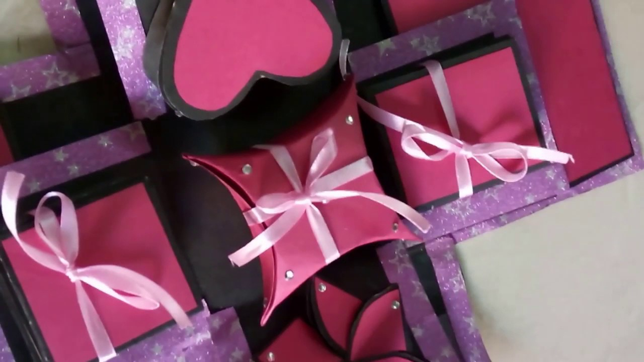 Personalized Handmade 2 Layered Explosion Gift Box - YouTube