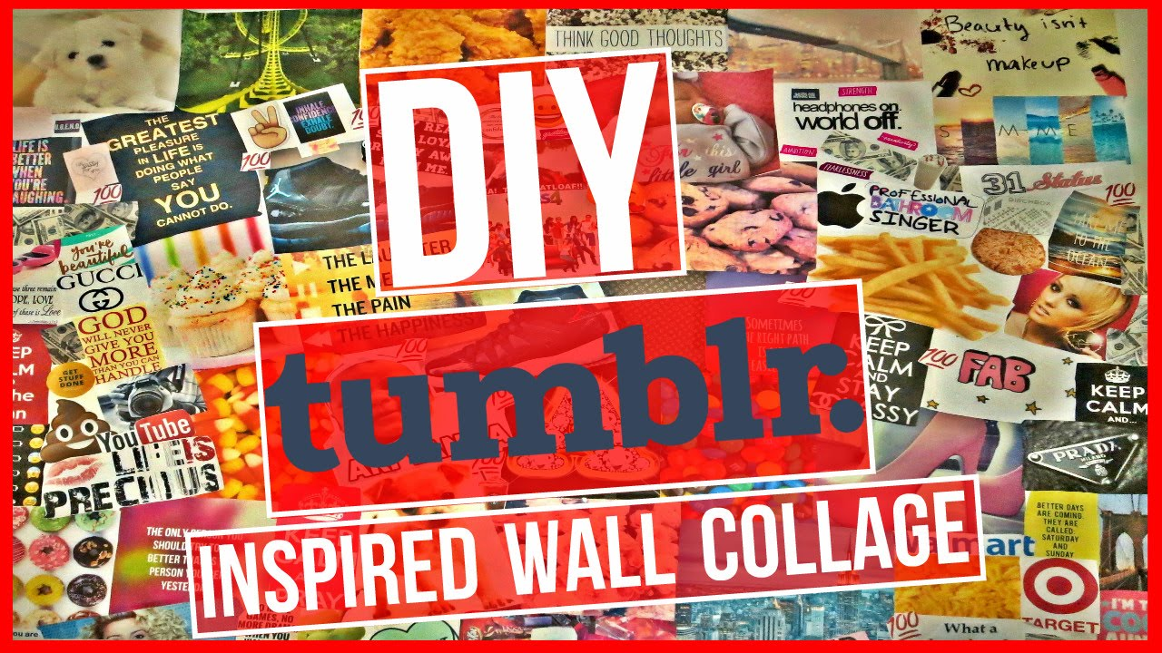 FUN EASY DIY HOW TO TUMBLR INSPIRED WALL PHOTO COLLAGE Part 2