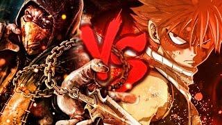 natsu vs scorpion   duelo de tits
