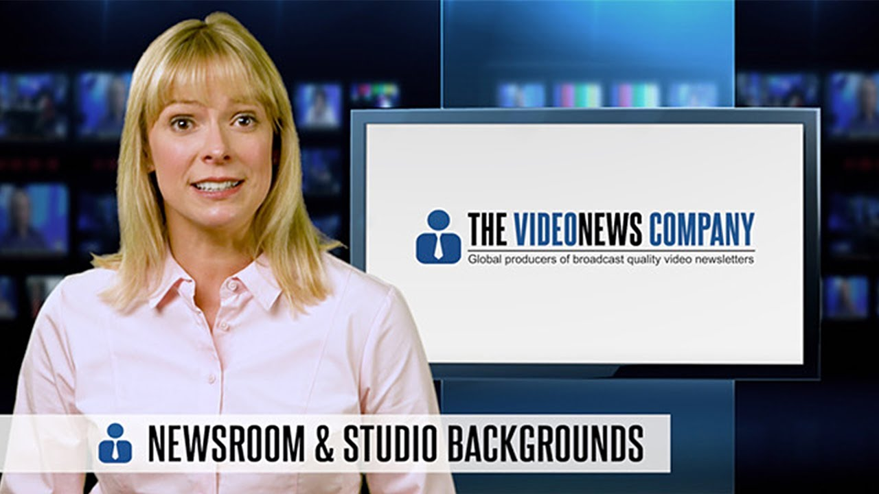 Newsroom Backgrounds   The Video News Company
