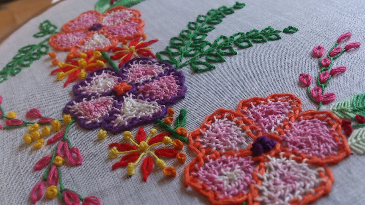 Hand embroidery designs tutorial net stitch