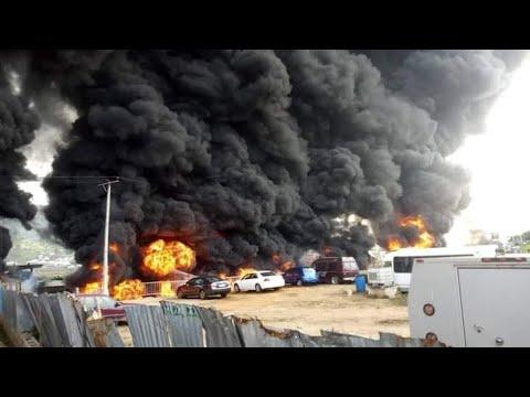 News; Gas Tanker Explosion at Ajuwon Iju-Ishaga Road, Lagos