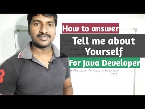Tell me about yourself interview question for Java Experienced Developer