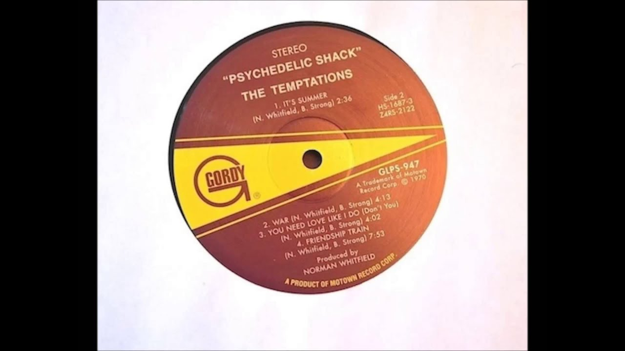 The Temptations Psychedelic Shack Youtube