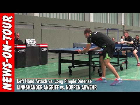 Table Tennis (HD) Left Hand Attack vs. Long Pimple Defense |