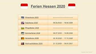 Ferien Hessen 2020 - Termine Schulferien