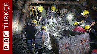 Ermenek'te madendeki çalışmaların görüntüleri yayımlandı - BBC TÜRKÇE