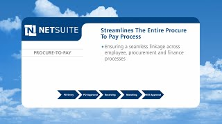 NetSuite Procure to Pay