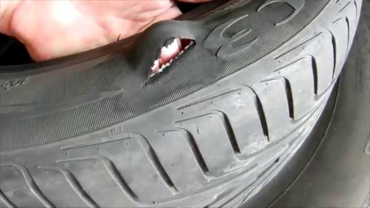 Своими руками ремонт шин боковой порез