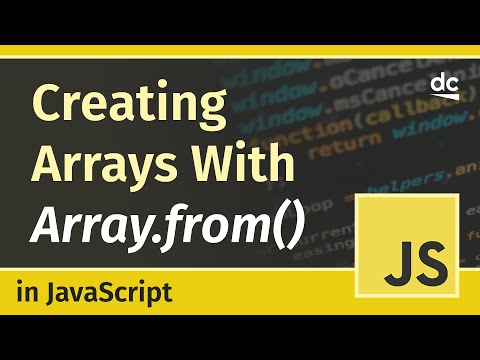Create arrays from objects with the Array.from() - JavaScript Tutorial thumbnail