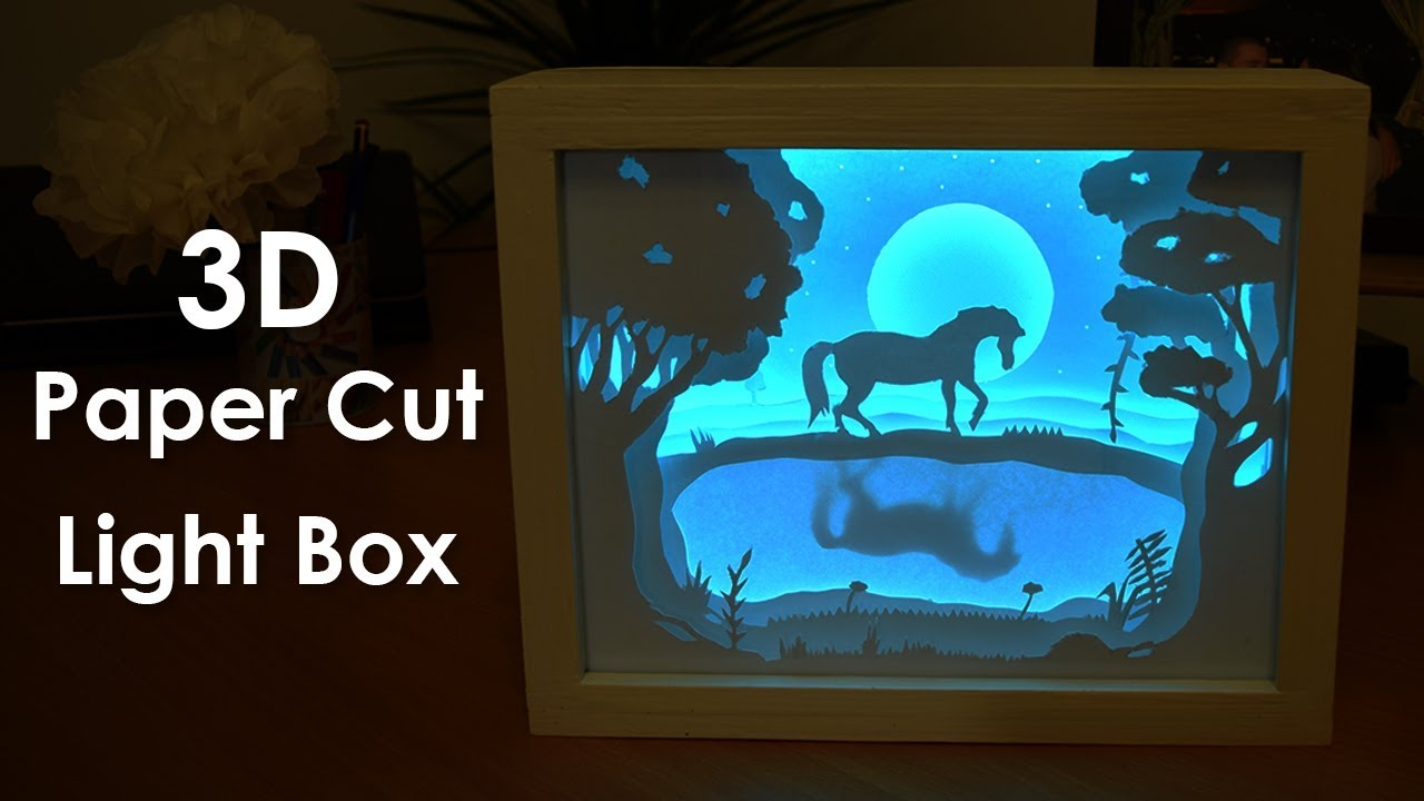 How To Create A 3d Paper Cut Light Box Diy Project Youtube