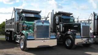 Kenworth W-900 Peterbilt357 loud Jake Brakes, Train Horns, Loud convoy chrome Truck