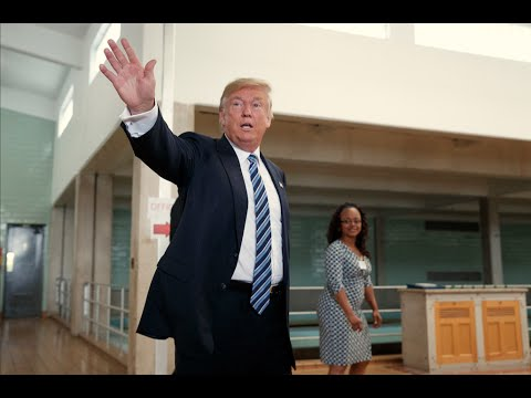 Trump tours water plant and visits church in Flint, Mich.