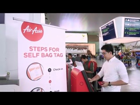 AirAsia | Steps For Self Bag Tag: Print At Kiosk