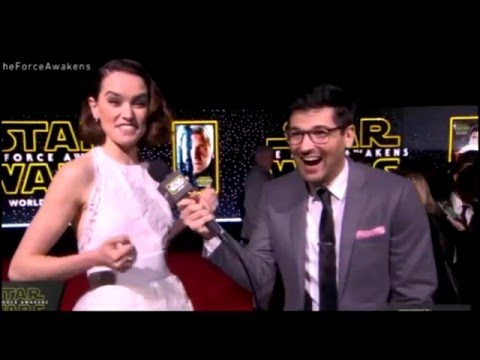 Daisy Ridley Interview - Star Wars The Force Awakens Red Carpet