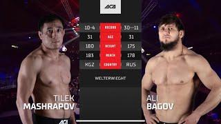 ACA 125: Тилек Машрапов vs. Али Багов | Tilek Mashrapov vs. Ali Bagov