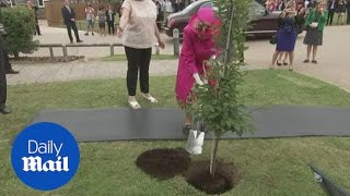 'I can still plant a tree': Queen refuses help during Cambridge trip
