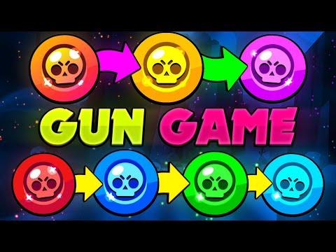 7 TIER GUN GAME in BRAWL STARS!