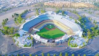 Los Angeles via Drone- Dodger Stadium
