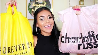HUGE SUMMER HAUL 2017: Forever 21, Charlotte Russe, Nike + More! | JuicyJas