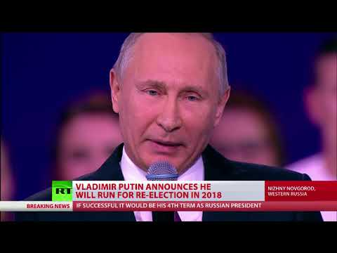 Putin announces he's running for re-election in 2018