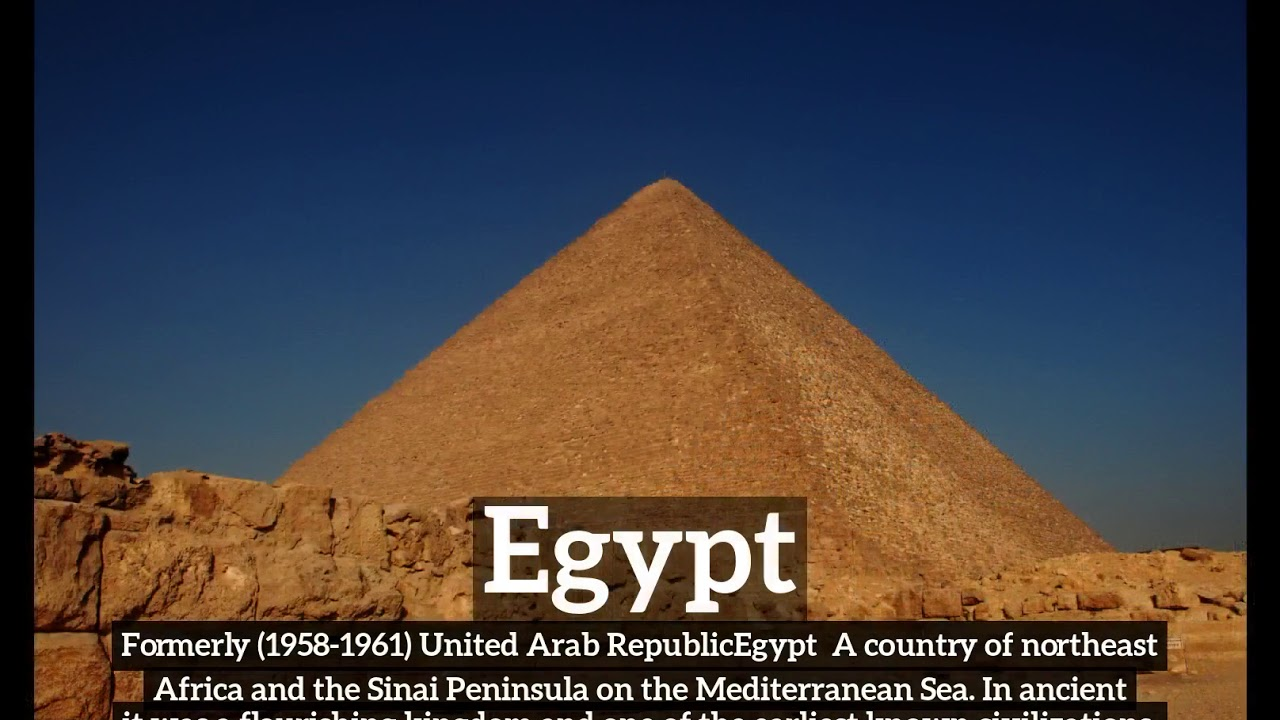 What Is Egypt How Does Look To Say In English