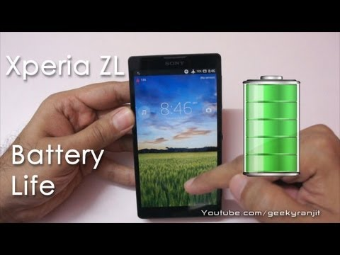 Sony Xperia ZL Battery Life