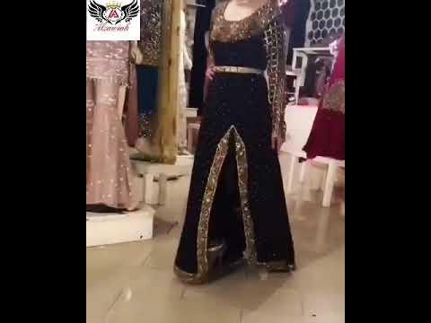 Alzawiah Designer Black And Gold Wedding Dress 78 Youtube