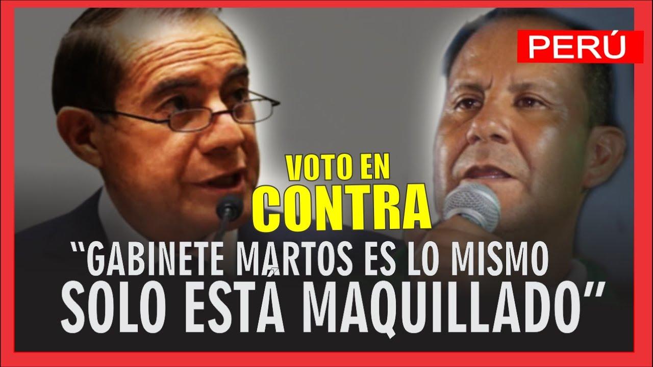 """Congresista Absalón Montoya sobre voto en contra del FA:  Gabinete Martos """"ES UNA COSA MAQUILLADA"""""""