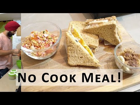 Hostel Food Hacks 3 Course Meal that needs NO COOKING No cook recipes
