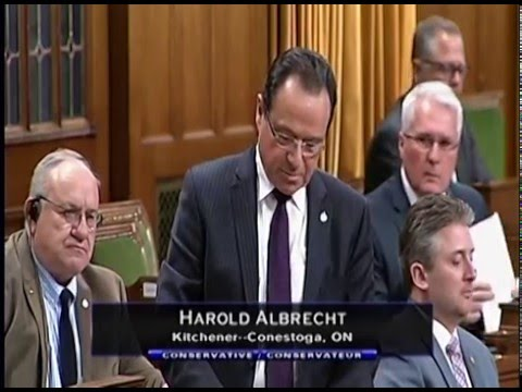 Harold Albrecht Responds to the Speech from the Throne
