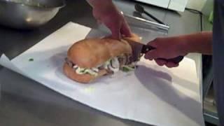 Rosaspizzasd - Garnishing The Philly Cheese Steak Sandwich - Rosaspizzasd.com
