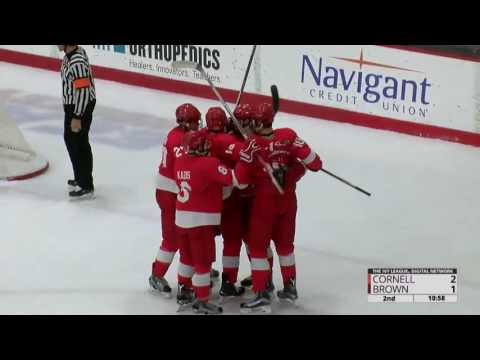 Highlights: Cornell Men's Ice Hockey at Brown - 11/11/16