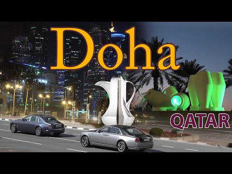 Doha Qatar 4K. Sights, Economy and World Cup 2022